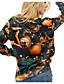 Damen Pullover Lässig/Alltäglich 3D-Druck Druck Rundhalsausschnitt Mikro-elastisch Polyester Langarm Herbst Winter