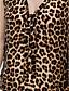 Majica s rukavima Ženski,Vintage Ležerno/za svaki dan Leopard-Bez rukávů V izrez-Ljeto Žuta Srednje Poliester