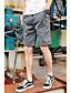 남성 단순한 약간의 신축성 치노바지 바지,루즈핏 중간 밑위,퓨어 컬러 솔리드