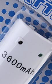 oplaadbare batterij (3600mAh) voor de wii / Wii U afstandsbediening
