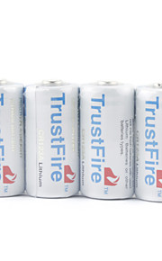 trustfire CR123A Li-ion batteri grå (4-pack)