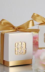12 Piece/Set Favor Holder - Cubic Card Paper Favor Boxes Non-personalised