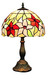 Tiffany-Stil Blumenmuster Glasmalerei Tischlampe