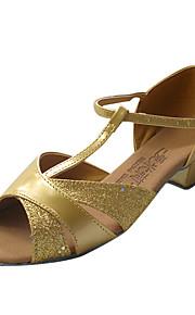 kunstleer / sprankelende glitter bovenste dansschoenen latin ballroom schoenen voor vrouwen / kids