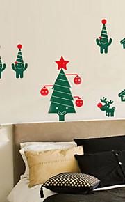 Joulukoristeita seinä tarroja loma koristeet joulukuusia ja lapset