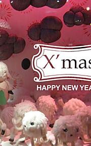 Joulukoristeita seinä tarroja ornamentit onnellista uutta vuotta