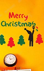 Joulukoristeita seinä tarroja loma koristeet lapset ja puita