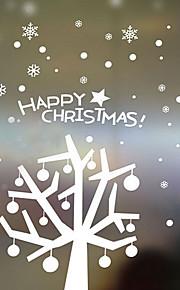 décoration de Noël stickers muraux ornements de vacances de noël arbres dans la neige