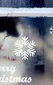 Joulukoristeita seinä tarroja ornamentit lumihiutale