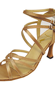 Customize Performance Dance Shoes Satin/ Leatherette Upper Latin Shoes for Women
