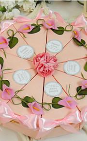 lys rose boîte de faveur gâteau (jeu de 10)