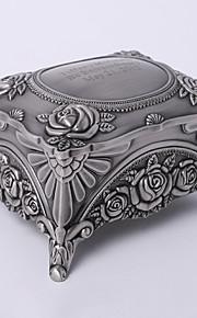 personnalisé millésime tutania rectangle boîte à bijoux délicats