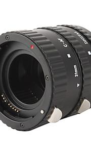 3-delt makro forlængerrør indstillet til Nikon D-SLR - sort