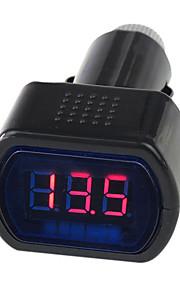 12V/24V digitale LED auto auto / vrachtwagen voltmeter meter