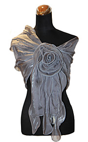 Bruiloft Wraps / Omslagdoeken Sjaals Teryleen Zwart / Wit / Champagne / Hemelsblauw / Robijnrood / Watermeloen / GrijsBruiloft /