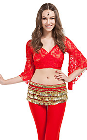 Dancewear Polyester With 338 Gold Coins Belly Dance Hip Scarf for Ladies More Colors