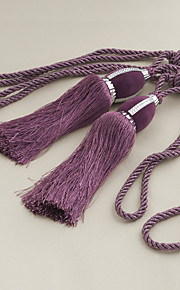 TWOPAGES® Purple Rayon Tassel (One Pair)
