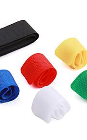 Multi-Colored Nylon Fastener Tape Cable Management Organizer (6-Pack)