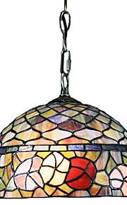 Zeitgenössische 60W 1 - Licht Tiffany Hängeleuchte in Glasschirm Blümchenmuster