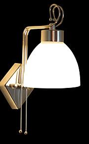 Élégant en métal 40W et Wall Light Fabric avec 1 lumière à l'ombre blanche