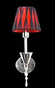 Moderne 40W Lumière de mur rouge en tissu avec 1 Lumière dans la Chronique de bougie