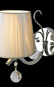 Élégant en métal 40W et Light Wall tissu avec 1 Lumière dans la Chronique de bougie