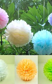 décorations florales en papier - set de 4 (plus de couleurs, plus de tailles disponibles)