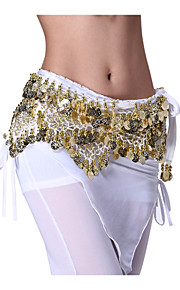 Belly Dance Belt Women's Performance Velvet Coins 1 Piece Black / Blue / Pink / Purple / Red / White / Yellow Belly Dance / Performance
