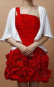 Wraps de mariage Manteaux / Vestes Sans manches Mousseline Blanc Soirée Face ouverte