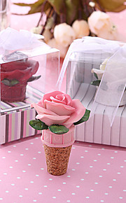 Resin Bottle Favor Bottle Stoppers Floral Theme Non-personalised White/Pink