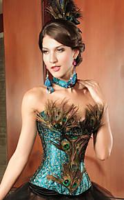 dentelles charmant et bustier corset acrylique paon (un ensemble) lingerie sexy shaper