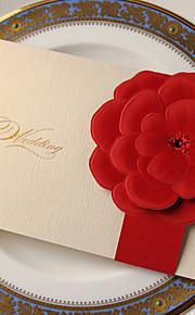 Pli Parallèle Vertical Invitations de mariage Cartes d'invitation-50 Pièce/Set Style classique / Style floral Papier durci 18.4*12.8cm