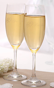 Personalized Toasting Flutes - Bride & Groom