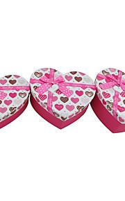 Pink Heart Shaped Geschenk Doos Met Boog van het Lint