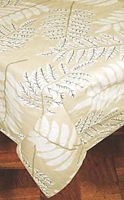 gedruckten Blätter rechteckig 100% Baumwolle weißen Tischtuch