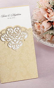 Personalized Wedding Invitation With Laser-cut Pattern - Set of 50 (More Colors)