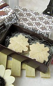 Maple Leaf Favor forme de mariage savon (Ensemble de 2)