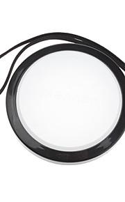 Mennon 67mm lente de la cámara Balance de blancos Tapa con correa de mano (Negro y Blanco)