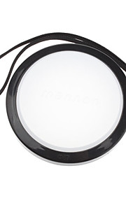 MENNON 67mm Camera Witbalans lensdop Cover met Hand Strap (Zwart & Wit)