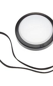 Mennon 43mm lente de la cámara Balance de blancos Tapa con correa de mano (Negro y Blanco)