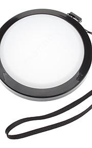 Mennon 72mm lente de la cámara Balance de blancos Tapa con correa de mano (Negro y Blanco)