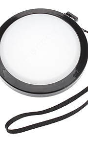 MENNON 72mm Camera Witbalans lensdop Cover met Hand Strap (Zwart & Wit)
