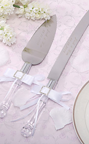 Serving Sets Wedding Cake Knife Personalized Satin Bowknot  Cake Knife And Server Set