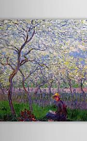 Pintura a óleo famosa um pomar na Primavera por Claude Monet