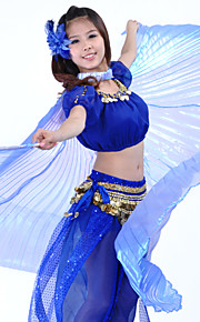 Danse tilbehør Scenerekvisitter / Isis-vinger Dame Ydeevne Polyester Blå / Grøn / Lyserød / Rød / Hvid MavedansForår, Efterår, Vinter,