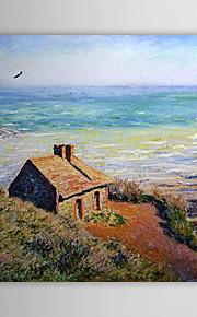 Huile célèbre tableau A costoms House, Effet du matin par Claude Monet
