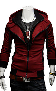 mannen contrasterende kleur hoodie dunne jas