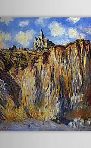 Huile célèbre tableau L'Eglise de Varengeville, effet du matin par Claude Monet