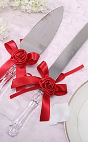 Serving Sets Wedding Cake Knife Personalized Satin Flower  Cake Knife And Server Set