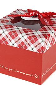 1 Piece/Set Titulaire de Faveur-Rectangulaire Papier durci Boîtes Cadeaux Non personnalisé